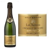 Crémant de Loire AOP blanc demi-sec Effervescents LACHETEAU, bouteillede 75cl