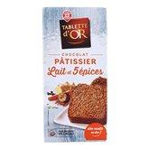 Chocolat Tablette d'or Pâtissier Lait 5 épices - 175G