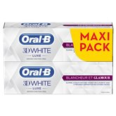 Dentifrice 3D White Luxe blancheur et glamour Oral B