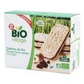 Galettes de riz Bio Village Chocolat noisettes - 120g
