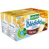 Blédina blédidej brique de lait et céréales saveur cacao 4x250ml dès 6 mois