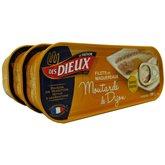 Filets de maquereaux Les Dieux Moutarde de Dijon x3 - 507g