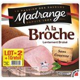 Jambon à la broche Madrange 4 tranches 2x140g