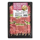 Brochettes de porc x14