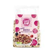 Happy Bio Muesli  Graine de Chia et fruits rouges - 375g