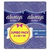 Always Protège-slips  Extra Protect - Large - 2x28