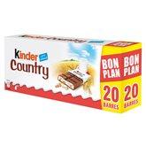 Kinder Barres Kinder Country x20 barres - 2x235g - 470g