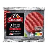 Charal Steak haché 15%mg Charal Viande bovine - 2x130g