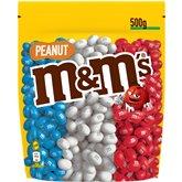 M&M's M&M'S Peanut pochon Bleu Blanc Rouge - 500g