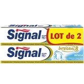 Signal Dentifrice Signal Intégral Integral 8 White - 2x75ml