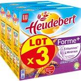 LU Biscottes Heudebert Forme + - 3x280g