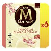 Magnum Glace Magnum Fraise et blanc x6 - 540g