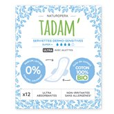 Tadam' Serviettes ultra super Tadam Dermo-sensitives bio - x12