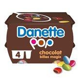 Danone Crèmedessert Danette Pop Chocolat Magix - 4x120g