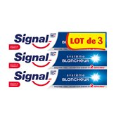 Signal Dentifrice Signal Système Blancheur - 3x75ml