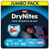 Huggies Culottes Drynites Disney Garçon 4-7ans 17-30kg - x16