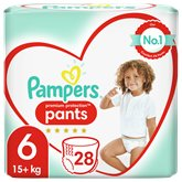 Pampers Culottes Pampers Premium Protection T6 : 15+kg - x28
