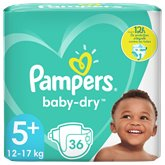 Pampers Couches Baby Dry Pampers Taille 5+ - x36