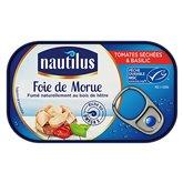 Nautilus Foie de morue fumé Nautilus Tomates séchées - 120g