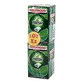 Hollywood Chewing-gum 2 Fresh menthe verte chlorophylle sans s... les 6 boites de 22 g